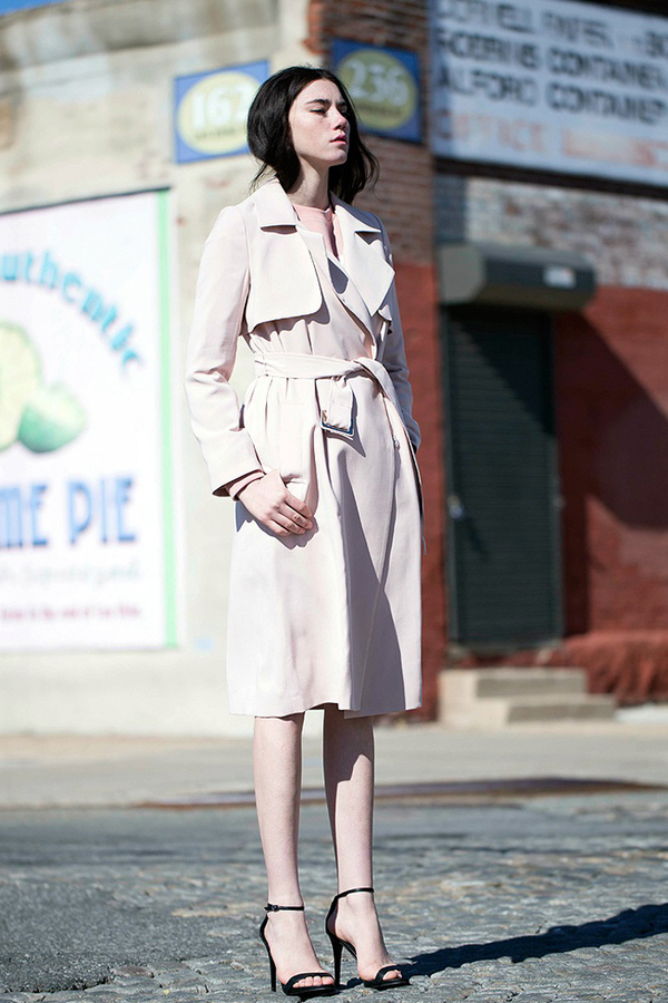 Lookast Soft Trench Coat- Blush