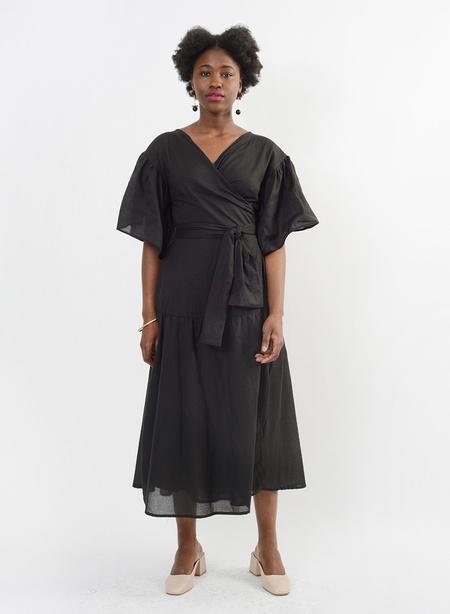 Meg Bali Wrap Dress - Black