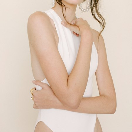 Anna Maria Blanco Elena Swimsuit - Mother of Pearl