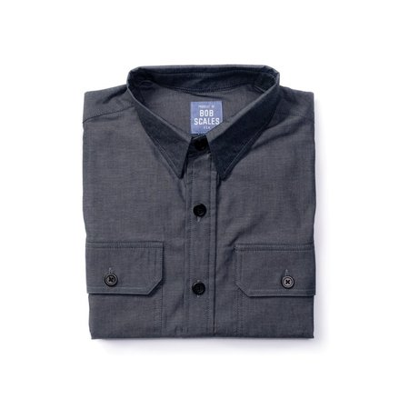 Product of Bob Scales WORK SHIRT - BLUE/GREY