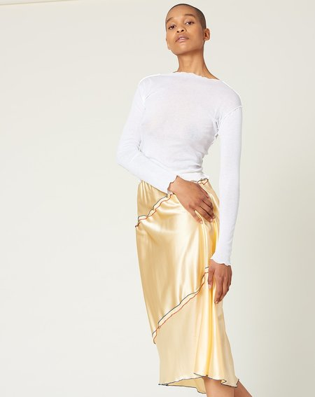 Baserange Gene Silk Satin Skirt - Oil