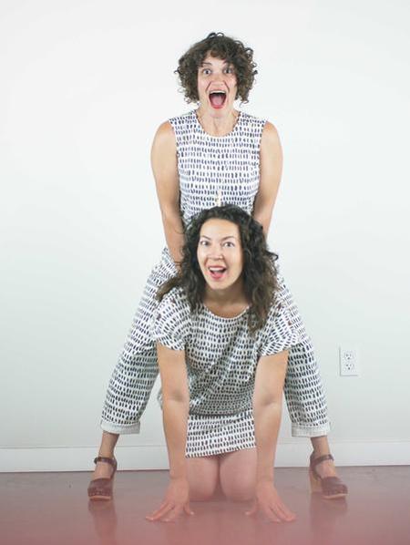 Atelier b. Jersey Jumpsuit - Ivory Pepita