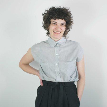 Jennifer Glasgow Bayou Top - Grey Stripe