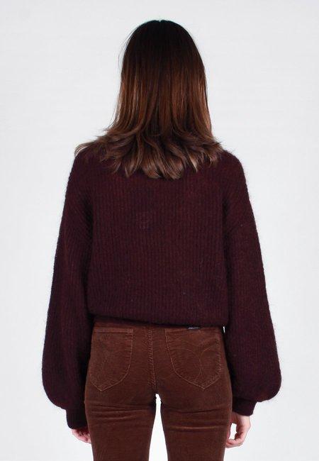 NOBODY DENIM Parisienne Knit Sweater - merlot