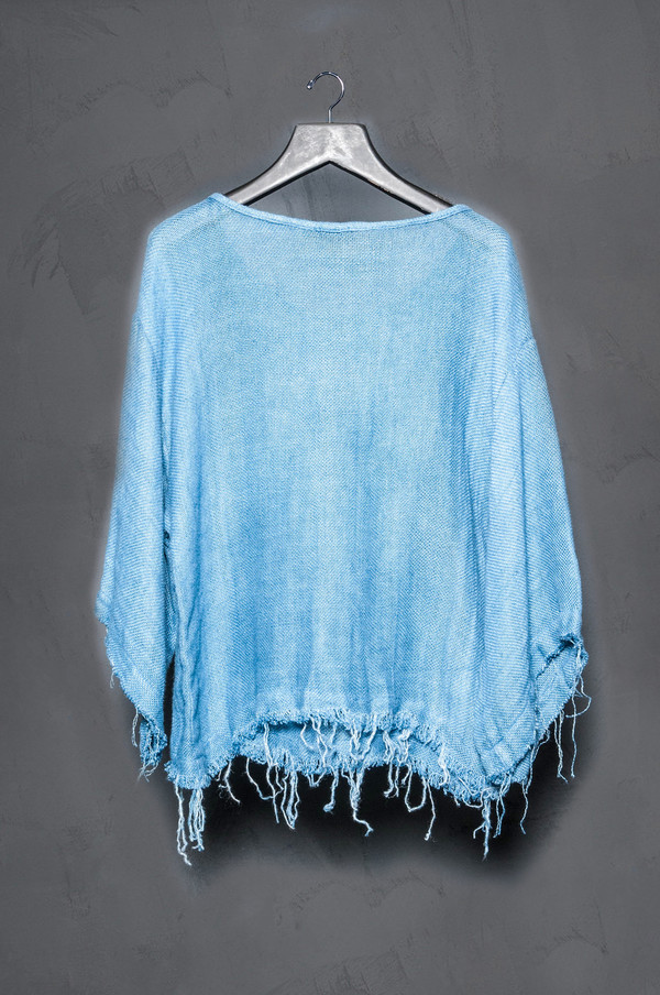 KES Cropped Frayed Top Collab