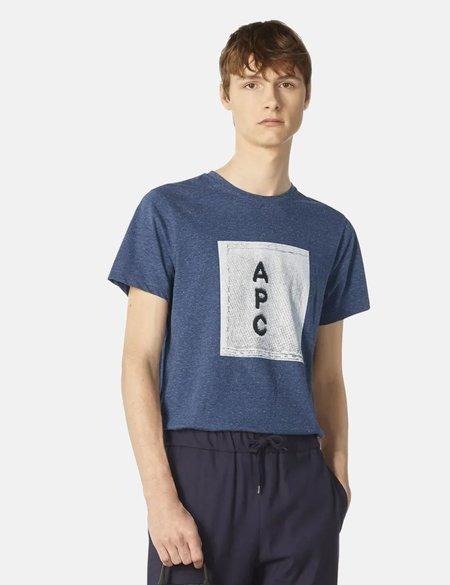 A.P.C. H logo T-Shirt - Sky Blue