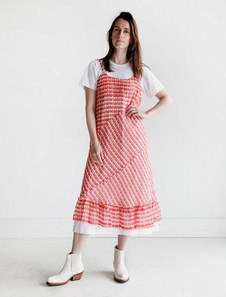 Comme des Garçons Slip and T-Shirt Dress - Red/White