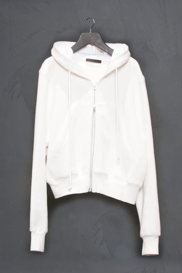 KES Oversized Cropped Fleece Lined Hoodie