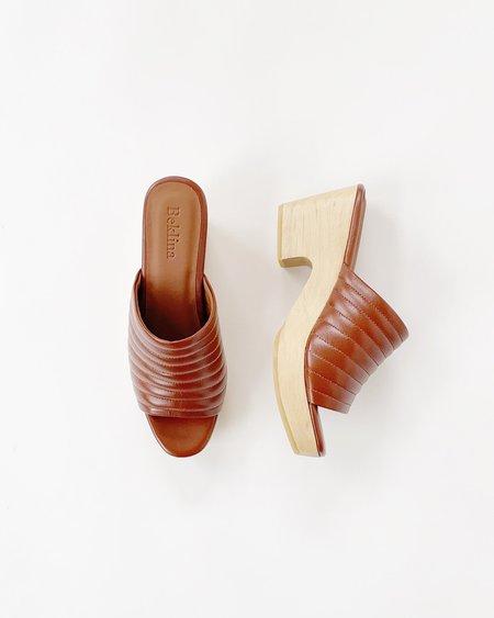 Beklina Ribbed Open Toe Clog - Wet Clay