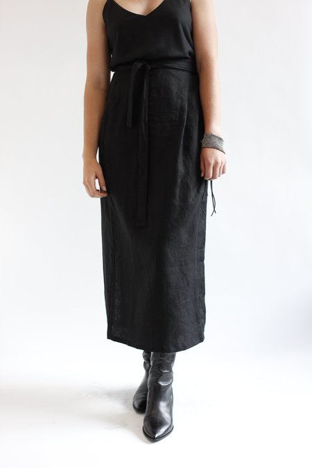 OZMA Venice Wrap Skirt - black