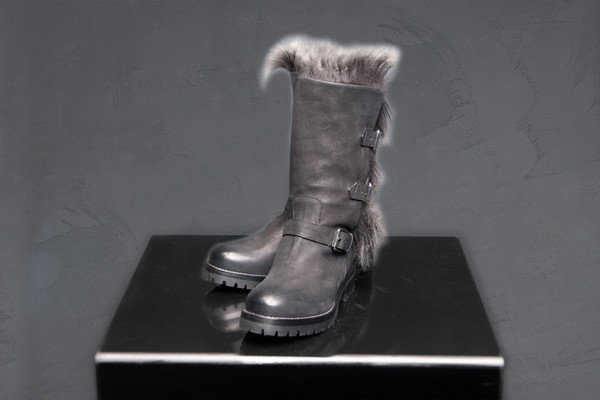 Sartore Buckled Fur Boot Fox