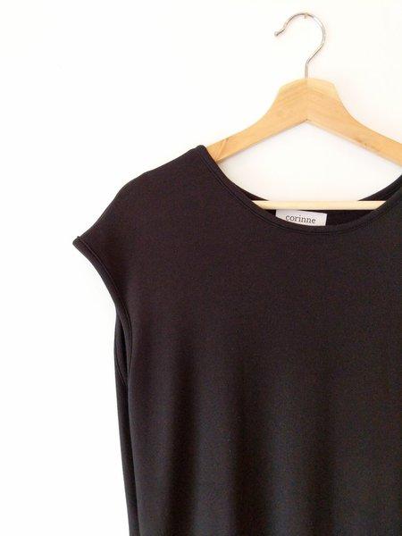 Corinne Cap Sleeve Midi Dress - Black