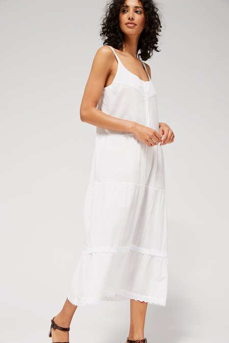 Lacausa Goldie Dress - Whitewash