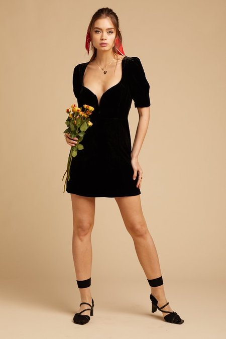For Love & Lemons Viva Dress - Black