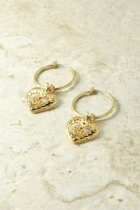 8b5677850 Vanessa Mooney Adorar Heart Earrings - Gold ...
