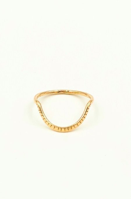 Brooke HIll Curve Ring - Gold fill