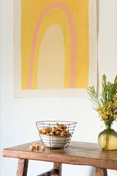 Upton Ellipse Canvas Print - Gold