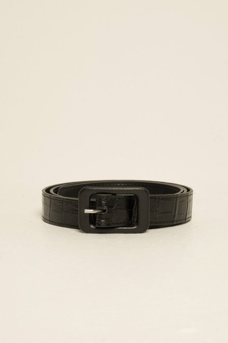 Jaggar Crocodile Belt - Black