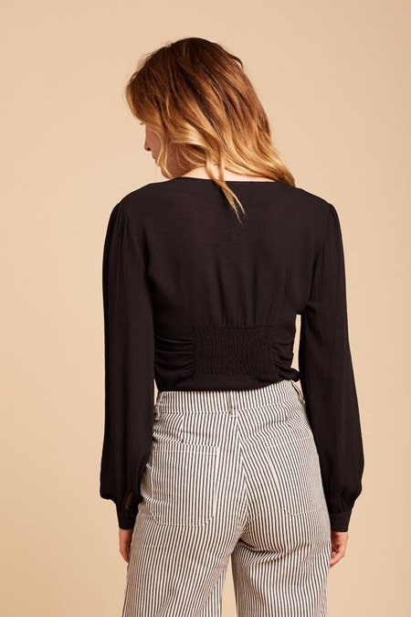 Free People Maise Top - Black