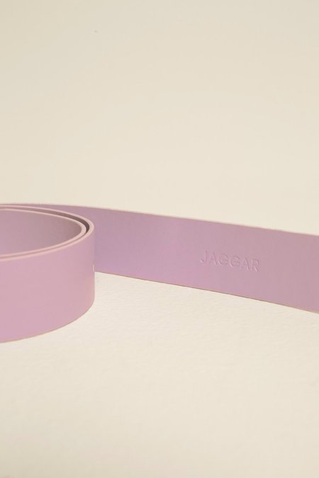 Jaggar Leather Buckle Belt - Lilac