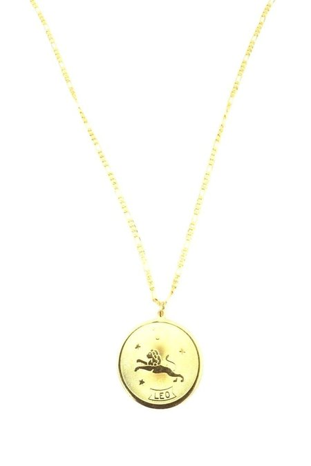 CAM Planets And Predictions Zodiac Necklace - 10K gold plated