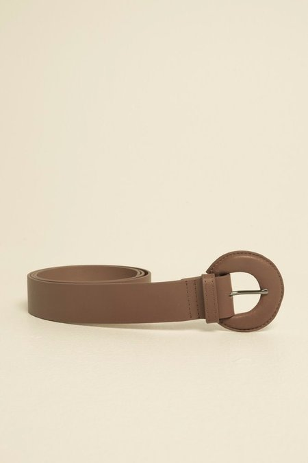 Jaggar Leather Buckle Belt - Rust