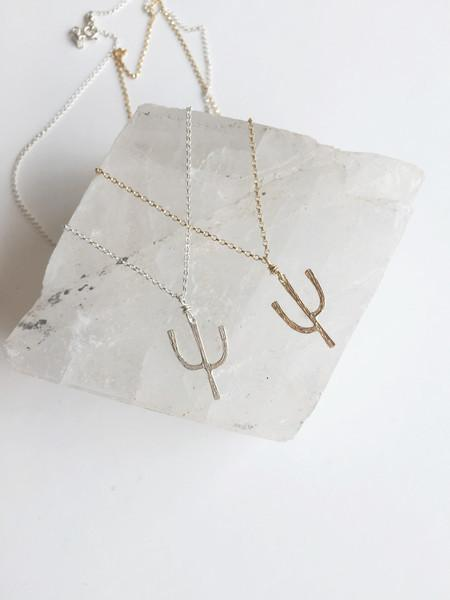 Brooke HIll Tucson Cactus Necklace - Sterling silver