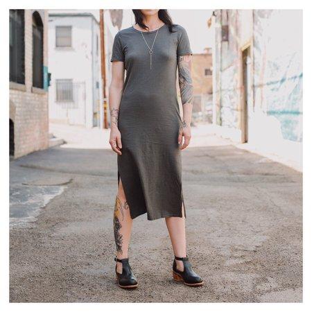 MATE The Label Dana Midi Dress - Charcoal