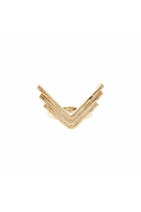 2bandits Triple Arrow Ring - Gold plated