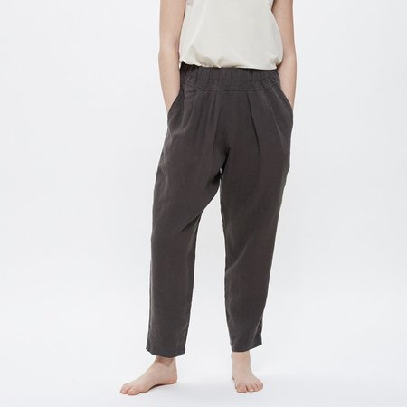Black Crane Carpenter Pants - Charcoal