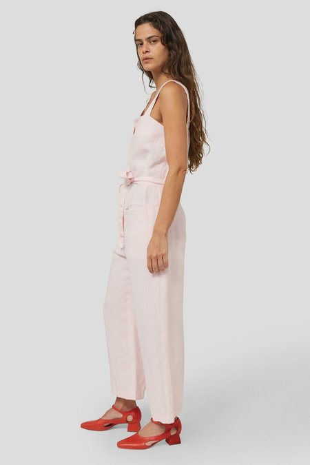 Rachel Comey BEND HEAVY LINEN JUMPSUIT - LIGHT PINK