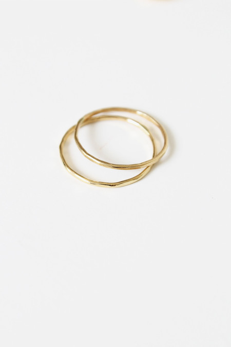 fiat lux 14k gold solid band ring