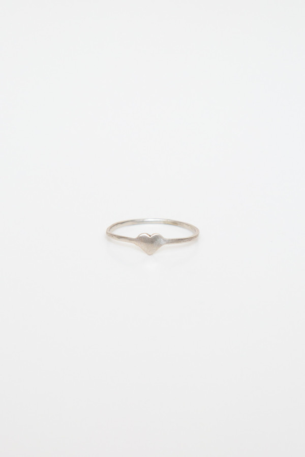 fiat lux sterling silver heart ring