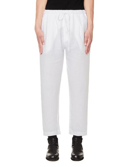 120% Lino Linen Trousers - WHITE