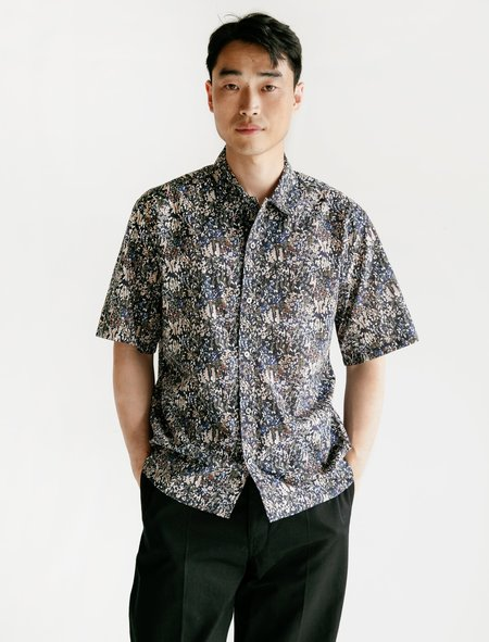 Norse Projects Carsten Shirt - Liberty Print/Ivy Green
