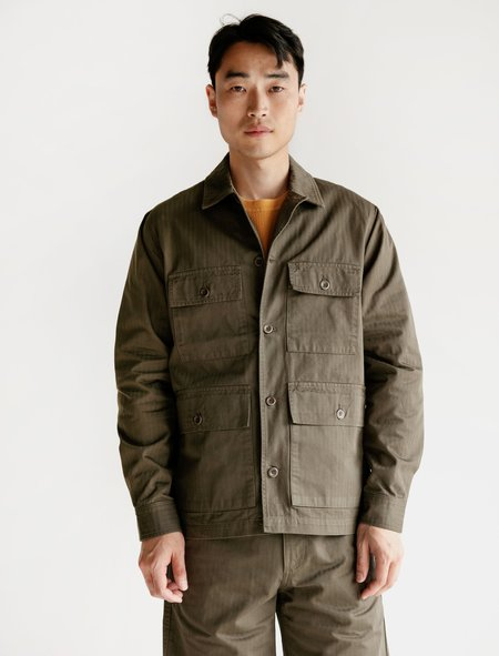 Norse Projects Mads Hbt Cotton Jacket - Ivy Green