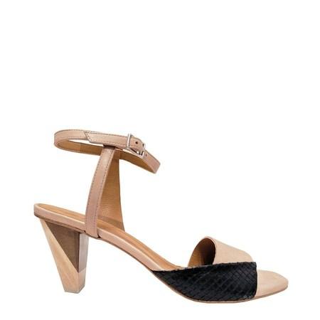 Coclico Ashford Strappy Sandal - Talco/Bone/Black