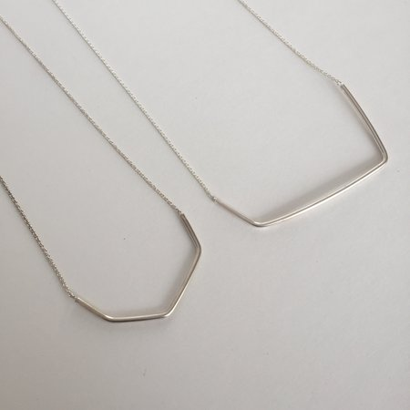 EMD Joailliere EMD Geometric Chain Necklace - Silver