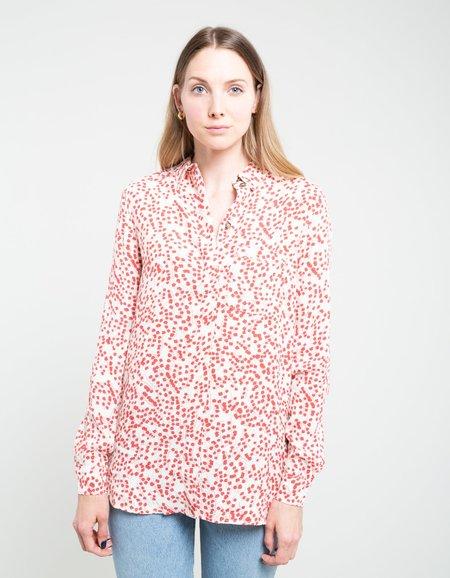 Ganni Printed Crepe Shirt - Egret
