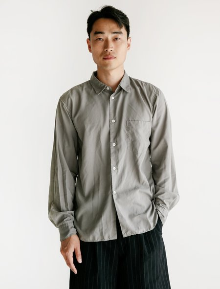 Comme des Garcons Collar Shirt Poly Broad Garment - Dyed Grey
