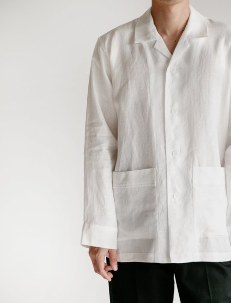 Niuhans Pyjama Comfort French Linen Shirt - White