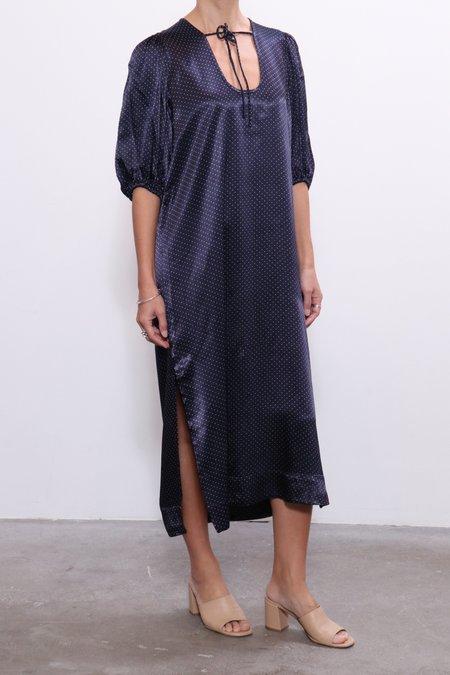 Ganni Heavy Satin Long Dress - Total Eclipse