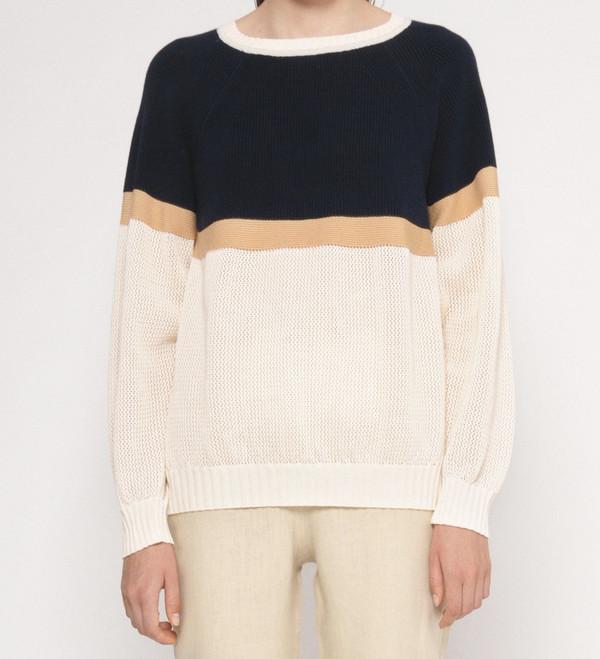"""Diarte """"Martin"""" Color Block Cotton Lightweight Sweater"""