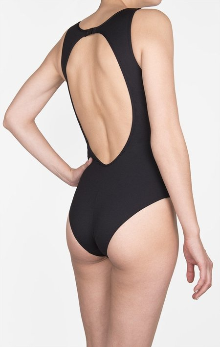 Shan 1 PIECE ENCOLURE HAUTE SWIMSUIT - ONYX