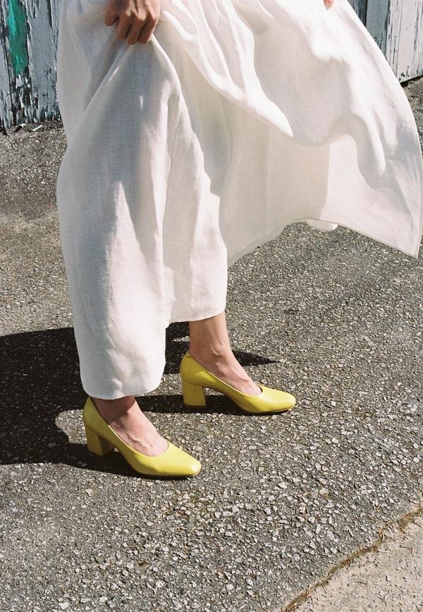 Maryam Nassir Zadeh Maryam Heel - lemon calf