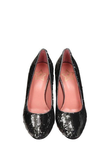 JF Shoes Décolleté Heel - Black/Silver