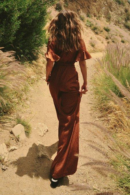 Lé Rumi GENE JUMPSUIT - Tan Spot