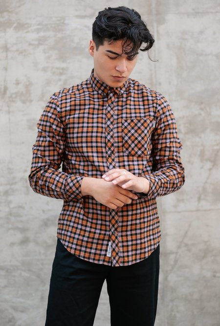 CARHARTT WIP L/S Lanark Shirt - Hamilton Brown