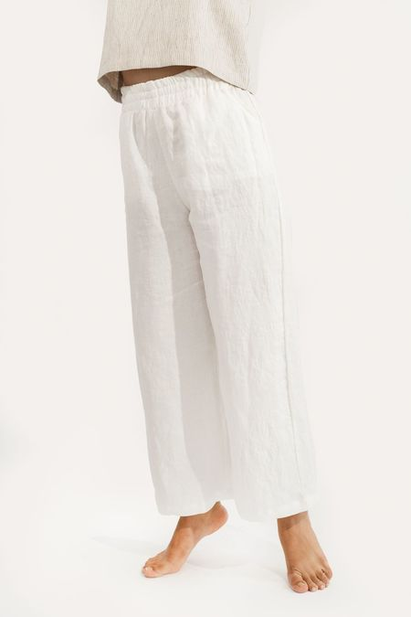 Two Fold Clothing Harris Wide Leg Linen Pant