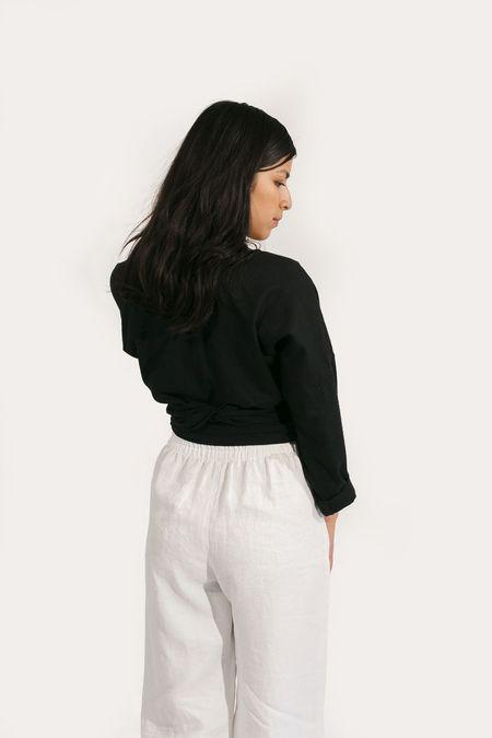Two Fold Clothing Raw Silk Long Sleeve Clara Top